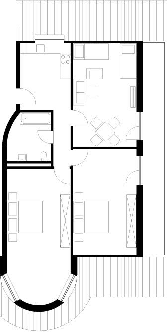Floor plan of our project apartment Type R3, Rieschstr. 8